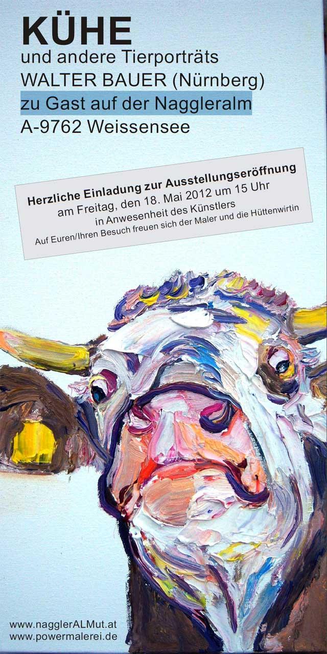 Kühe Und Andere Tierporträts Auf Der Naggler Alm A 9762 Weissensee